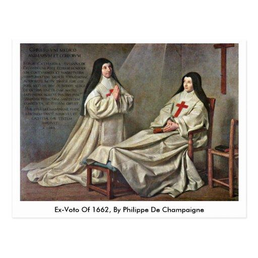 Ex-Voto de 1662, por Felipe De Champaigne Postal