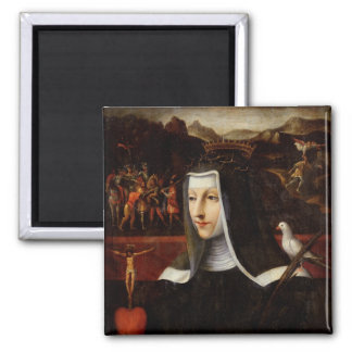 Ex Voto dedicated to St. Catherine of Siena 2 Inch Square Magnet