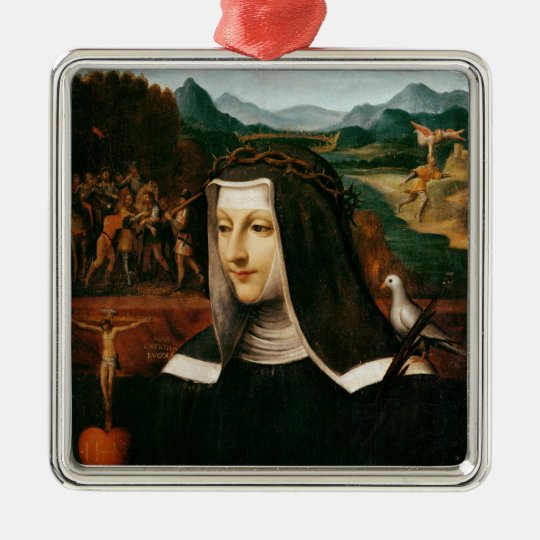 Ex Voto dedicated to St. Catherine of Siena Metal Ornament