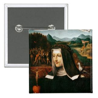 Ex Voto dedicated to St. Catherine of Siena Pinback Button