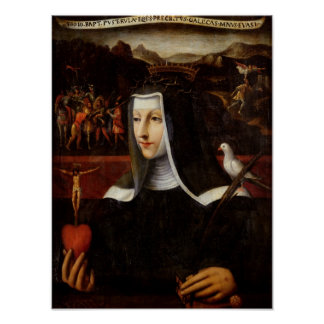 Ex Voto dedicated to St. Catherine of Siena Poster
