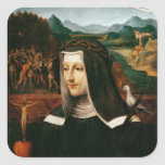 Ex Voto dedicó a St. Catherine de Siena Calcomanías Cuadradass Personalizadas