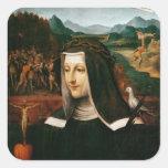 Ex Voto dedicó a St. Catherine de Siena Pegatina Cuadrada