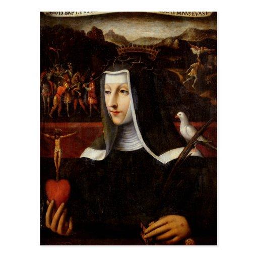 Ex Voto dedicó a St. Catherine de Siena Postal