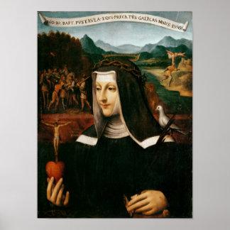 Ex Voto dedicó a St. Catherine de Siena Póster