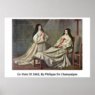 Ex-Voto Of 1662, By Philippe De Champaigne Posters