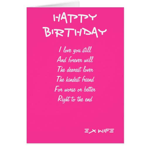 Ex-wife Birthday Cards