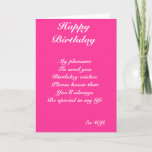 """Ex-wife birthday cards<br><div class=""""desc"""">birthday greeting cards with dedication to a special ex-wife</div>"""
