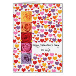 Ex Wife Colored Valentine's Day Greeting Card