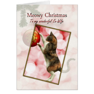 Ex-wife, Meowy Christmas Cards