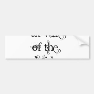 Ex-Wife of the Bride Bumper Sticker