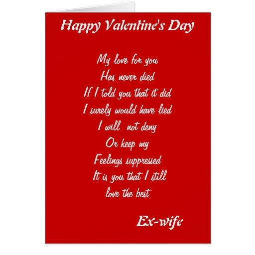 Ex Wife Valentine 39 S Day Cards Zazzle