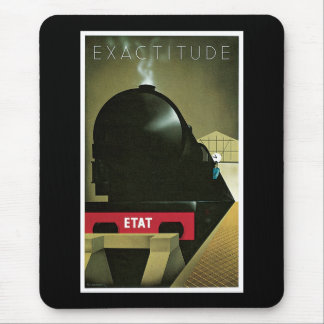 Exactitude Vintage French Railway Poster Mouse Pad