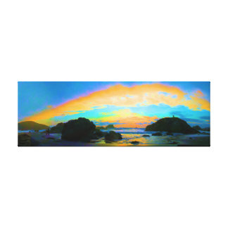 Exaggerated Sunset Canvas Print