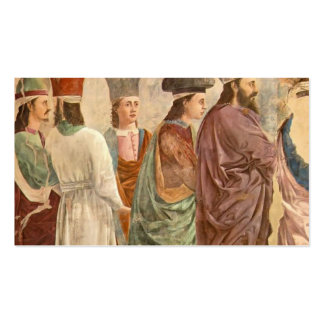 Exaltation of the Cross by Piero Francesca Double-Sided Standard Business Cards (Pack Of 100)