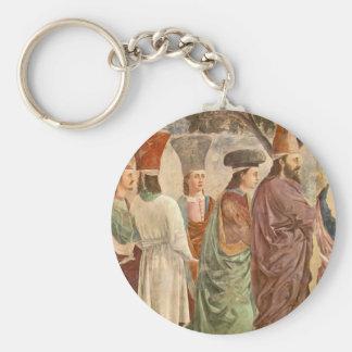 Exaltation of the Cross by Piero Francesca Key Chain