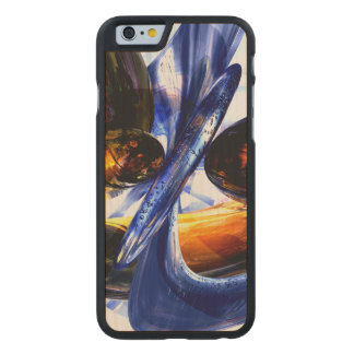 Exalted Glow Abstract Carved® Maple iPhone 6 Slim Case