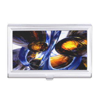 Exalted Glow Abstract Business Card Case