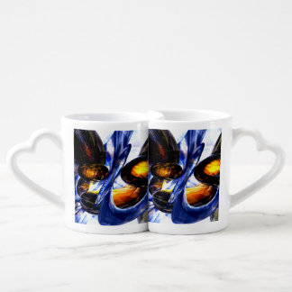 Exalted Glow Abstract Couple Mugs