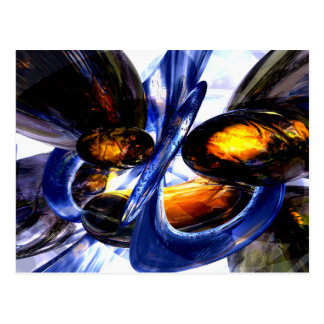 Exalted Glow Abstract Postcard