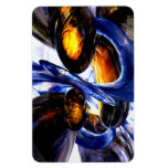 Exalted Glow Abstract Rectangle Magnet