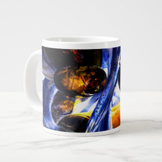 Exalted Glow Abstract Extra Large Mugs