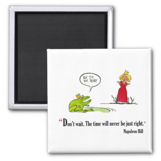 Exam motivational quote by Napoleon Hill - 2 Inch Square Magnet