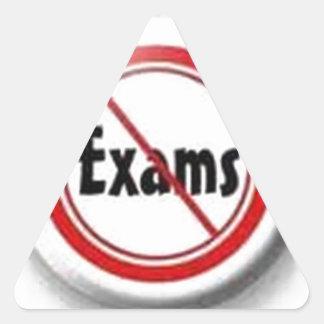 exam over triangle sticker