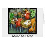 Examen de bufete de ensaladas divertido tarjeta de felicitación