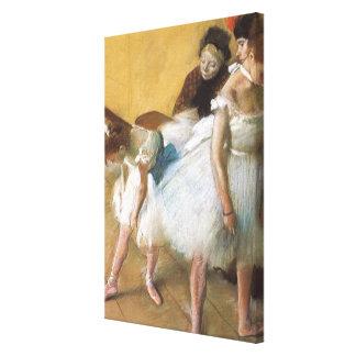 Examen de Edgar Degas, ballet de la danza del Impresiones En Lienzo Estiradas