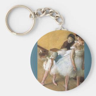 Examen de Edgar Degas, ballet de la danza del Llavero Redondo Tipo Pin