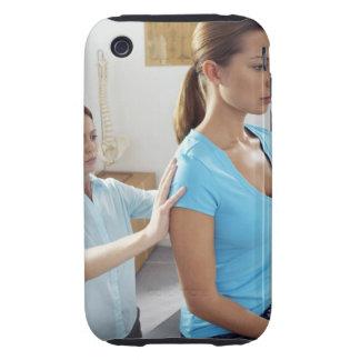 Examen de la quiropráctica de la espina dorsal funda resistente para iPhone 3