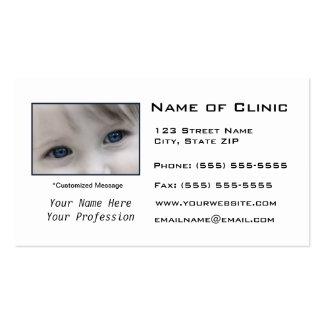 Examen de la vista de la optometría del tarjetas de visita