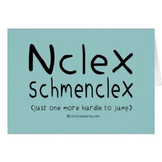 Examen del oficio de enfermera de NCLEX Schmenclex Tarjeta Pequeña