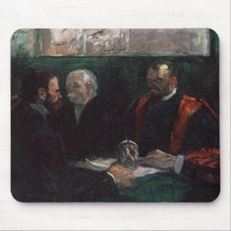 Examen en la facultad de la medicina, 1901 alfombrillas de raton