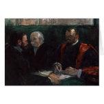 Examen en la facultad de la medicina, 1901 tarjeton