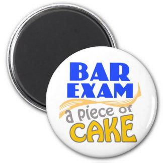 Examen para ejercer la abogacía - pedazo de torta imán redondo 5 cm