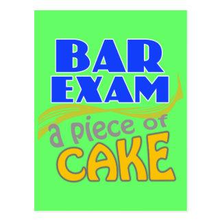 Examen para ejercer la abogacía - pedazo de torta tarjetas postales