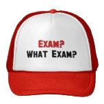 ¿Examen? ¿Qué examen? Gorros Bordados