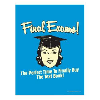 Exámenes finales: Finalmente compre el libro de te Tarjeta Postal