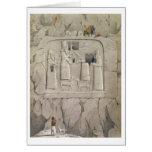Examinando una escultura asiria de la roca, de 'Di Felicitacion