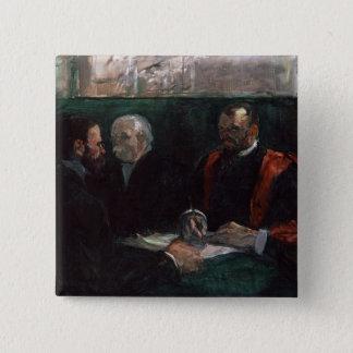 Examination at the Faculty of Medicine, 1901 Pinback Button