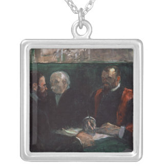 Examination at the Faculty of Medicine, 1901 Silver Plated Necklace