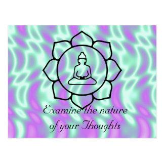 Examine la naturaleza de sus pensamientos postales