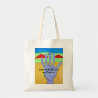 Examine your life tote bag