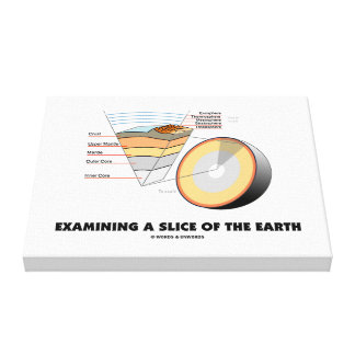Examining A Slice Of The Earth (Earth Science) Canvas Print
