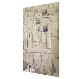 Examining an Assyrian Rock Sculpture, from 'Discov Canvas Print