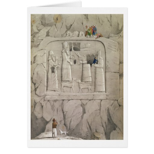 Examining an Assyrian Rock Sculpture, from 'Discov Cards