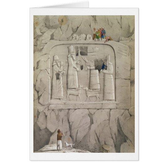 Examining an Assyrian Rock Sculpture, from 'Discov Card