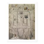 Examining an Assyrian Rock Sculpture, from 'Discov Postcard